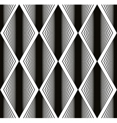 Seamless rhombus pattern abstract geometric black vector