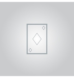 Diamonds card icon vector