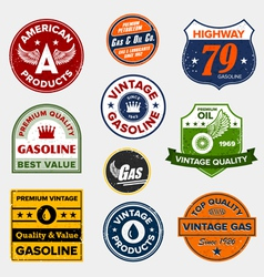 vintage gasoline signs vector image
