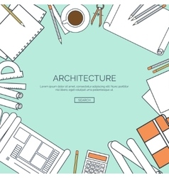 Lined flat architectural vector