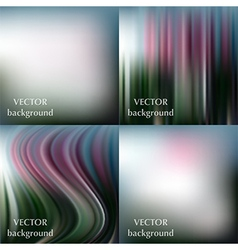 Abstract colorful blurred smooth backgrounds vector