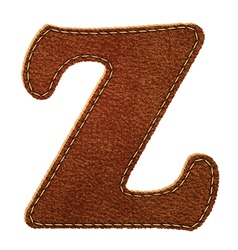 Leather textured letter Z vector image