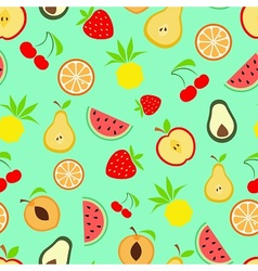 Exotic summer fruits vector