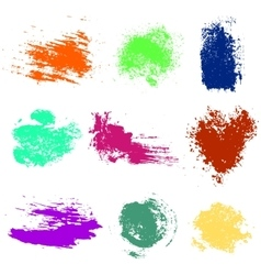 Set of blots splash vector