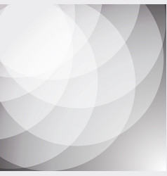 Abstract white stack circle background vector