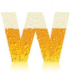 alphabet beer w vector image vector image