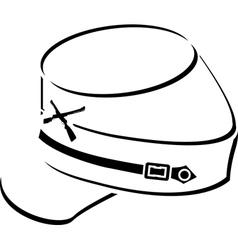 american civil war kepisketch vector image