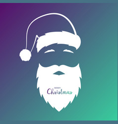 avatar of the silhouette of santa claus vector image vector image
