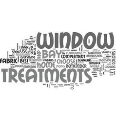 Bay window treatments text word cloud concept vector