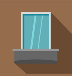 Blind window icon flat style vector