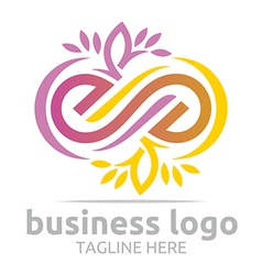 Business logo company corporate abstract infinity vector