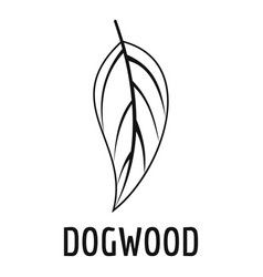 dogwood leaf icon simple black style vector image