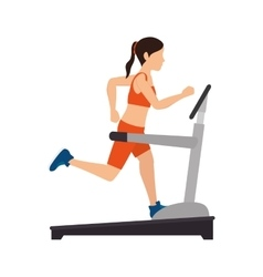 girl trainning band gym vector image