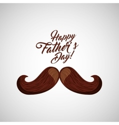 greeting fathers day mustache icon vector image