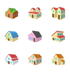 Housing icons set cartoon style vector image vector image