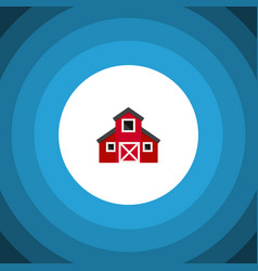 Isolated greenhouse flat icon storehouse vector