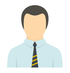 Man in business suit as user icon isolated vector