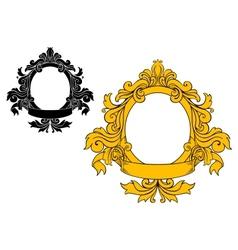 Medieval floral frame vector image vector image