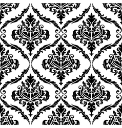 Ornate floral arabesque decorative pattern vector image