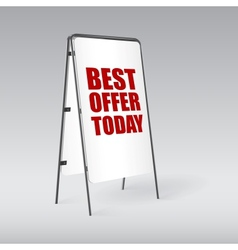 Pavement sign with the text best offer today vector