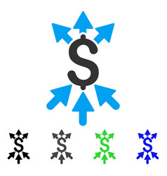 Payment broker flat icon vector