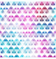 rainbow color triangle seamless pattern vector image