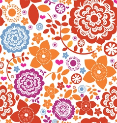 Seamless flower paradise vector