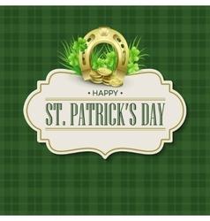 St Patricks Day vintage holiday badge design vector image vector image