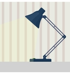 Table lamp flat vector