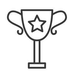 trophy award isolated icon vector image vector image