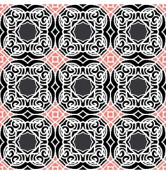 Vintage art deco pattern in dark colors vector