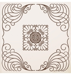 vintage border frame with ornament vector image vector image