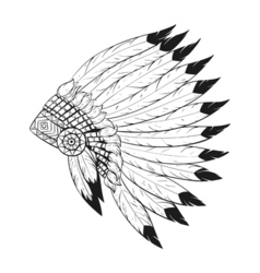 Indian war bonnet vector