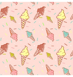 Colorful melting ice-cream seamless vector