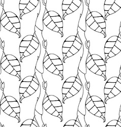 Leafy patterned background vector