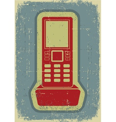 Radio phonegrunge symbol on old paper texture vector