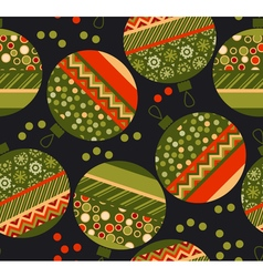 Peasant ornament patchwork xmas bubbles seamless vector