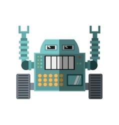 Robotic operator machine technology shadow vector