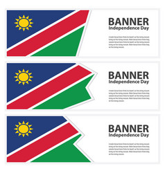 Namibia flag banners collection independence day vector