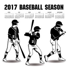 2017 baseball season artwork vector