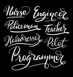 Programmer and engineer hand written typography vector
