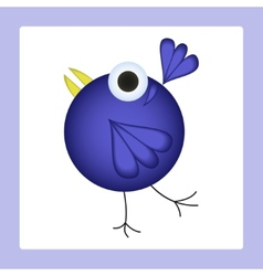 Dancing cartoon bird vector