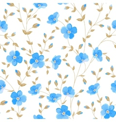 Field flowers wallpaper vector
