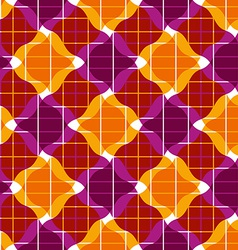 Ornate mosaic seamless pattern geometric vector