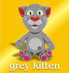 Grey kitten vector