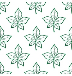 Green leaves square seamless pattern vector