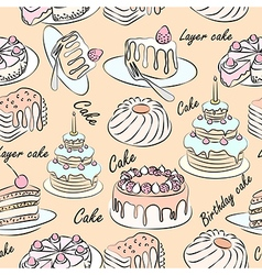 Cake seamless2 vector