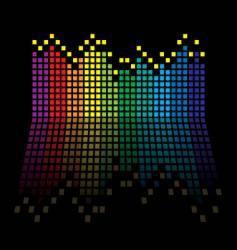 rainbow equaliser vector image