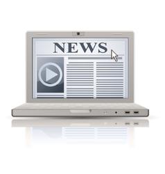 online news vector image