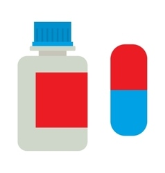 Tablets bottle icon vector